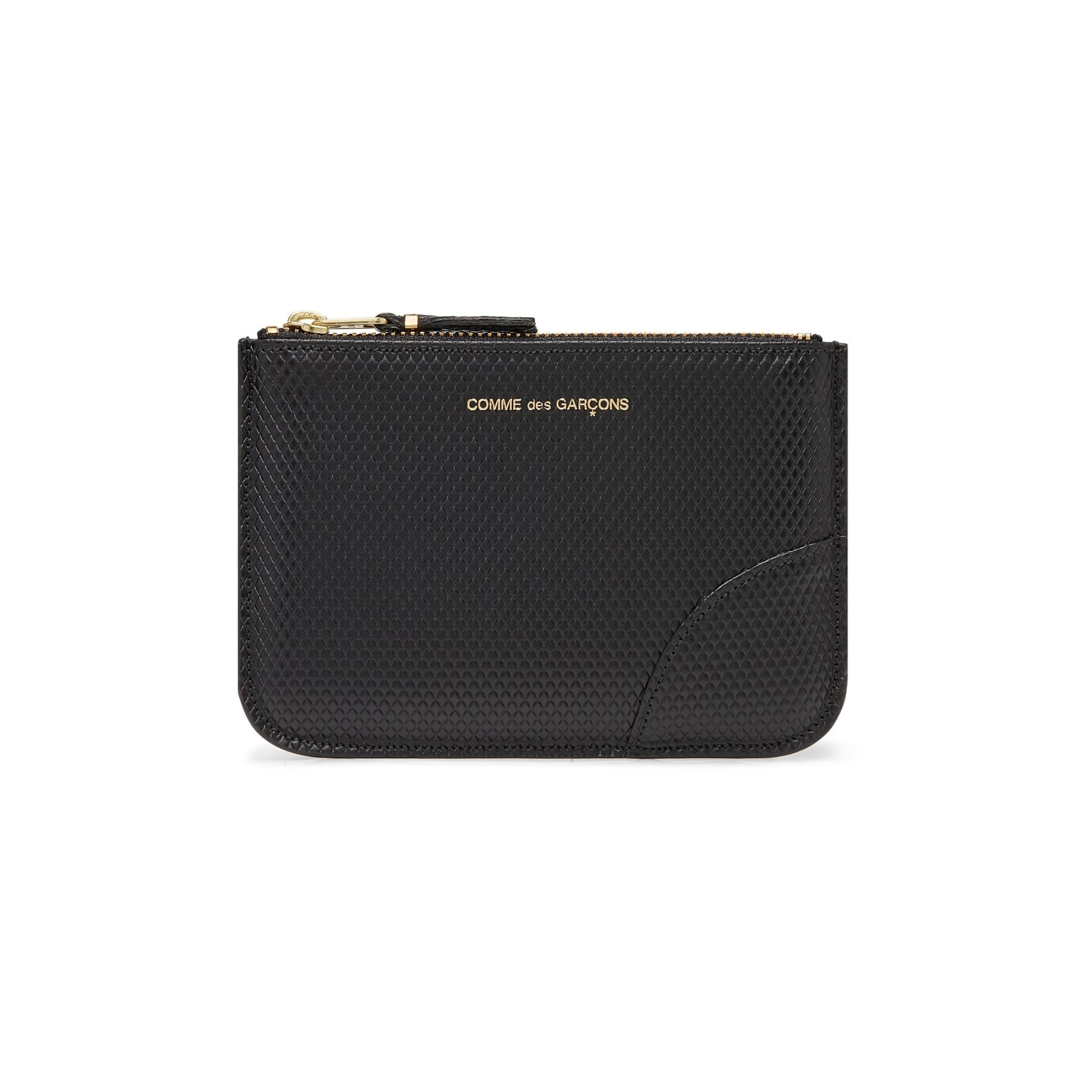 COMME des GARÇONS Wallet SMALL LEATHER ZIP POUCH Lux BLACK SA8100LG