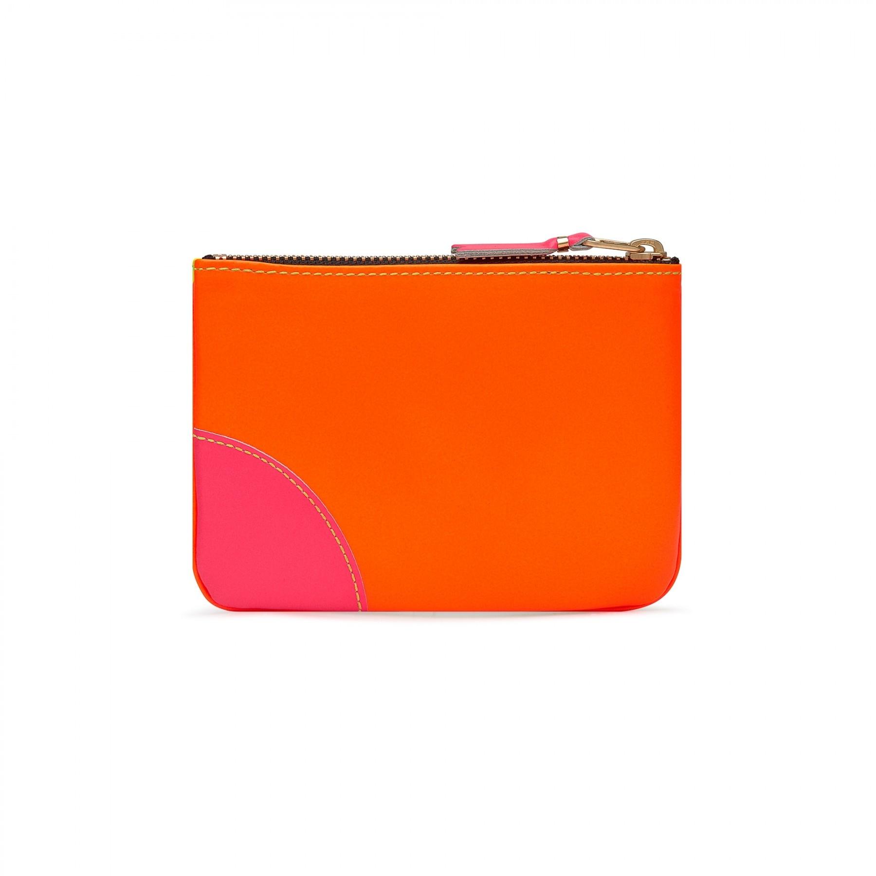 COMME des GARÇONS Wallet Small Zip Pouch Super Fluo Yellow/OrangeSA8100SF