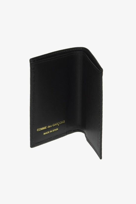 COMME des GARÇONS WALLET Card Holder Lux Black Leather  SA6400LG