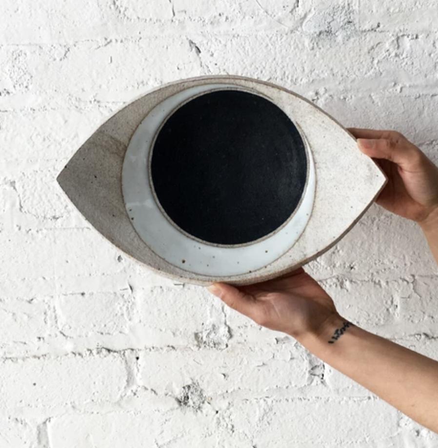 MQuan Eye Dish Large in Crescent Indigo