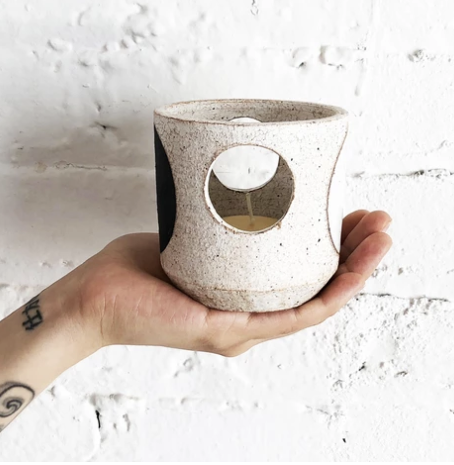 MQuan Tealight Vessel in Domino
