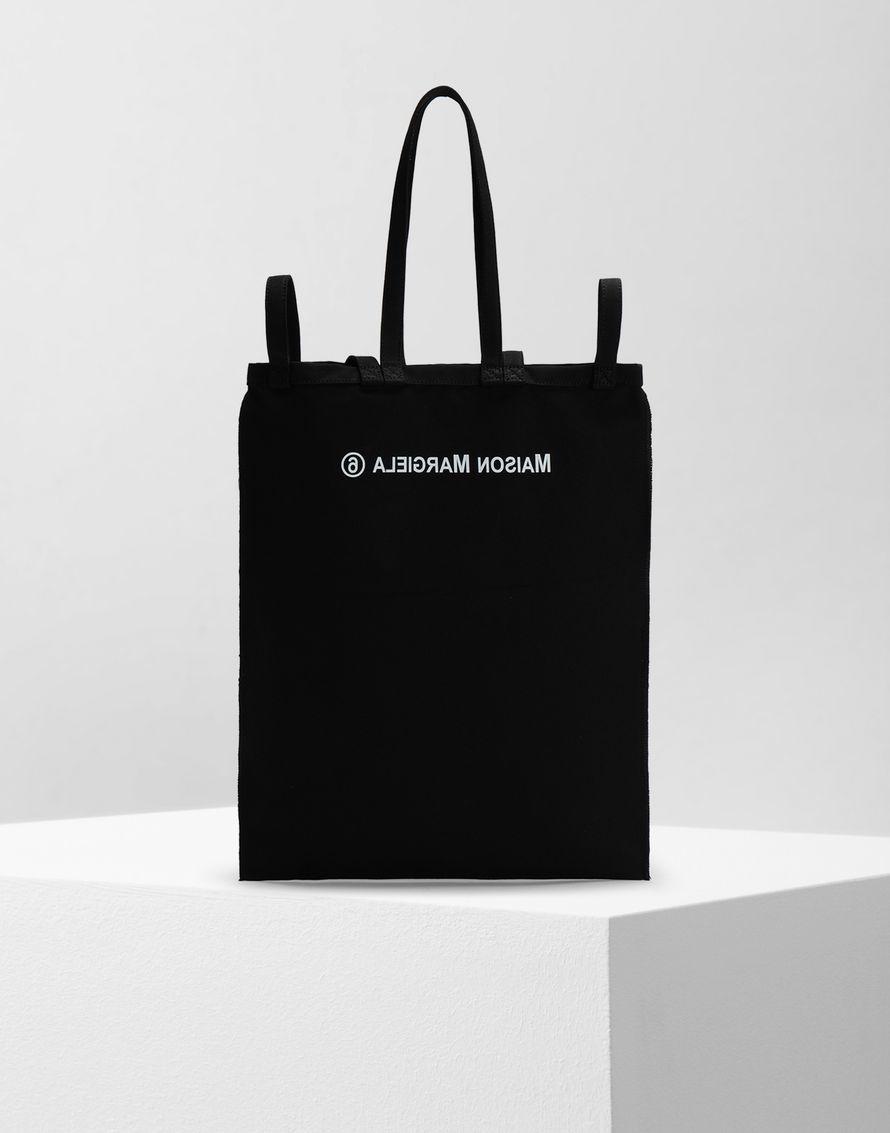 official photos a1e0b 0b543 MM6 Maison Margiela Inside Out Logo Bag Black