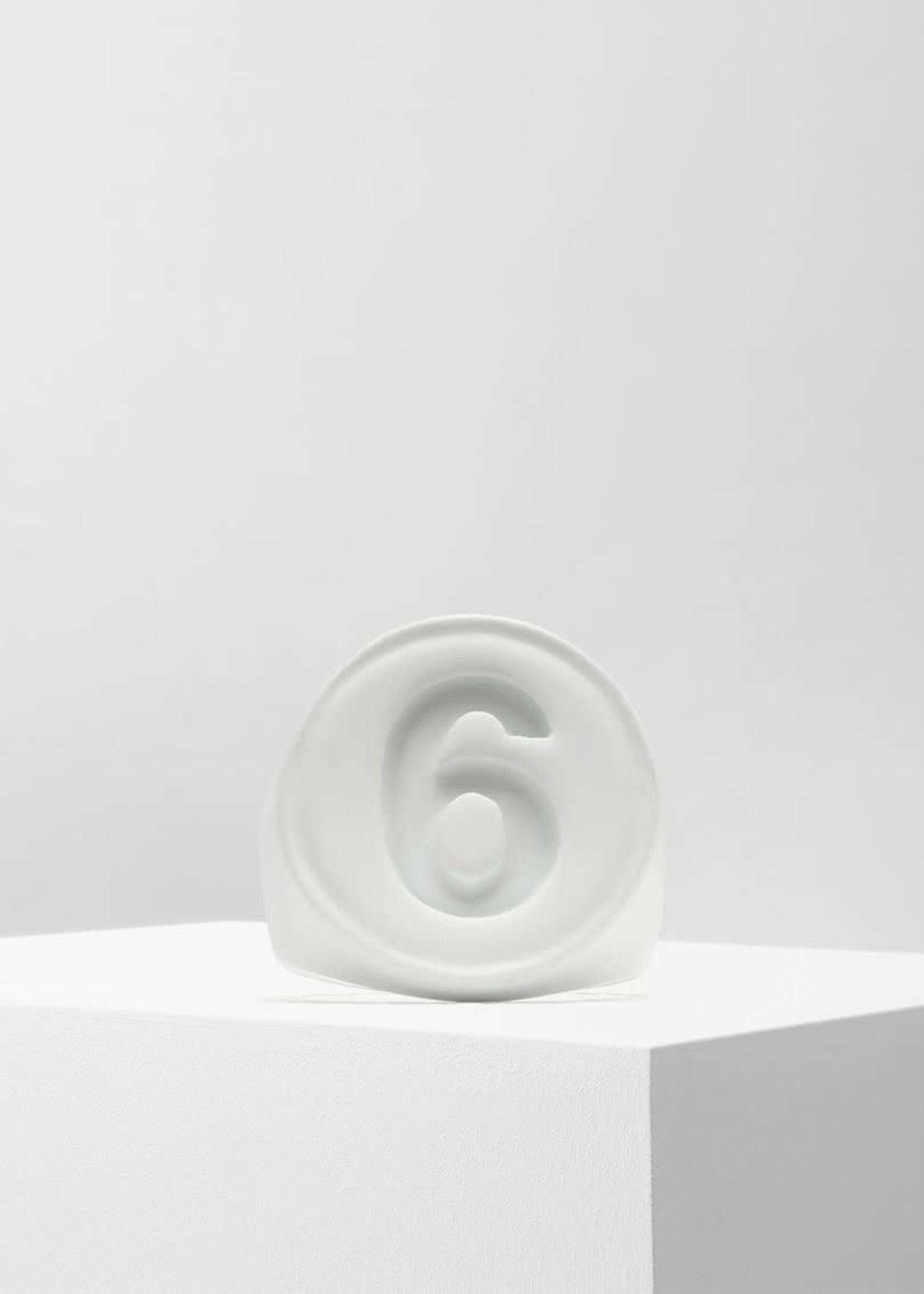 MM6 MAISON MARGIELA Matte White 6 Logo Ring