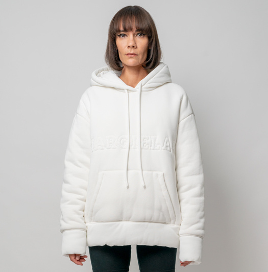 MM6 MAISON MARGIELA Padded Logo Sweatshirt in White