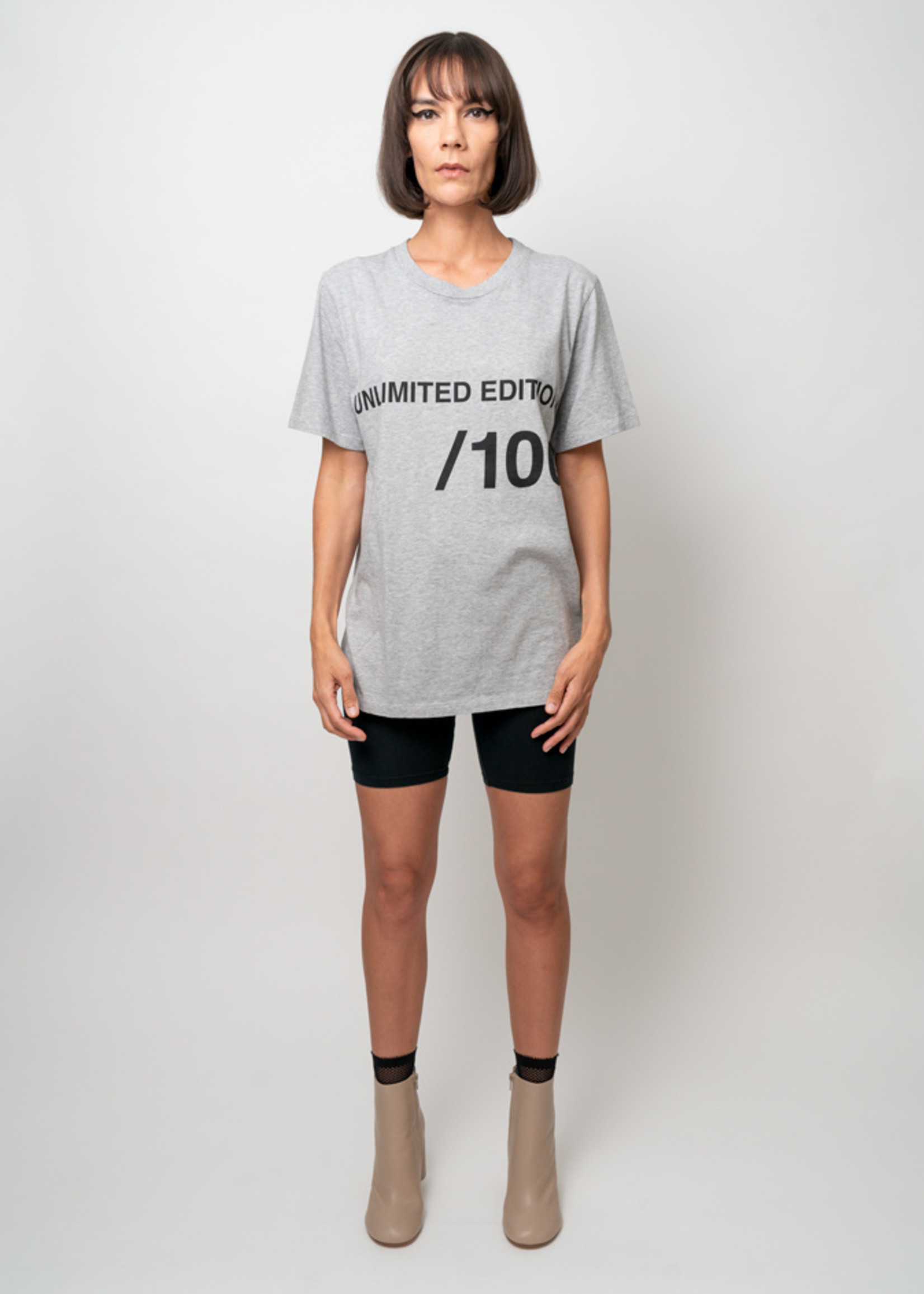 MM6 MAISON MARGIELA Unlimited Edition Tee: Grey Heather