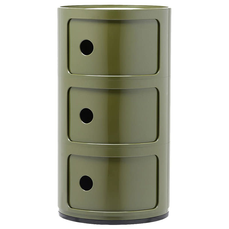 Kartell Kartell Componibili 3 Drawer Tower in Green