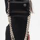 KARA KARA Baby Pinch Bag w/chain in Black