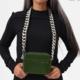 KARA KARA Camera bag with bike chain in Green