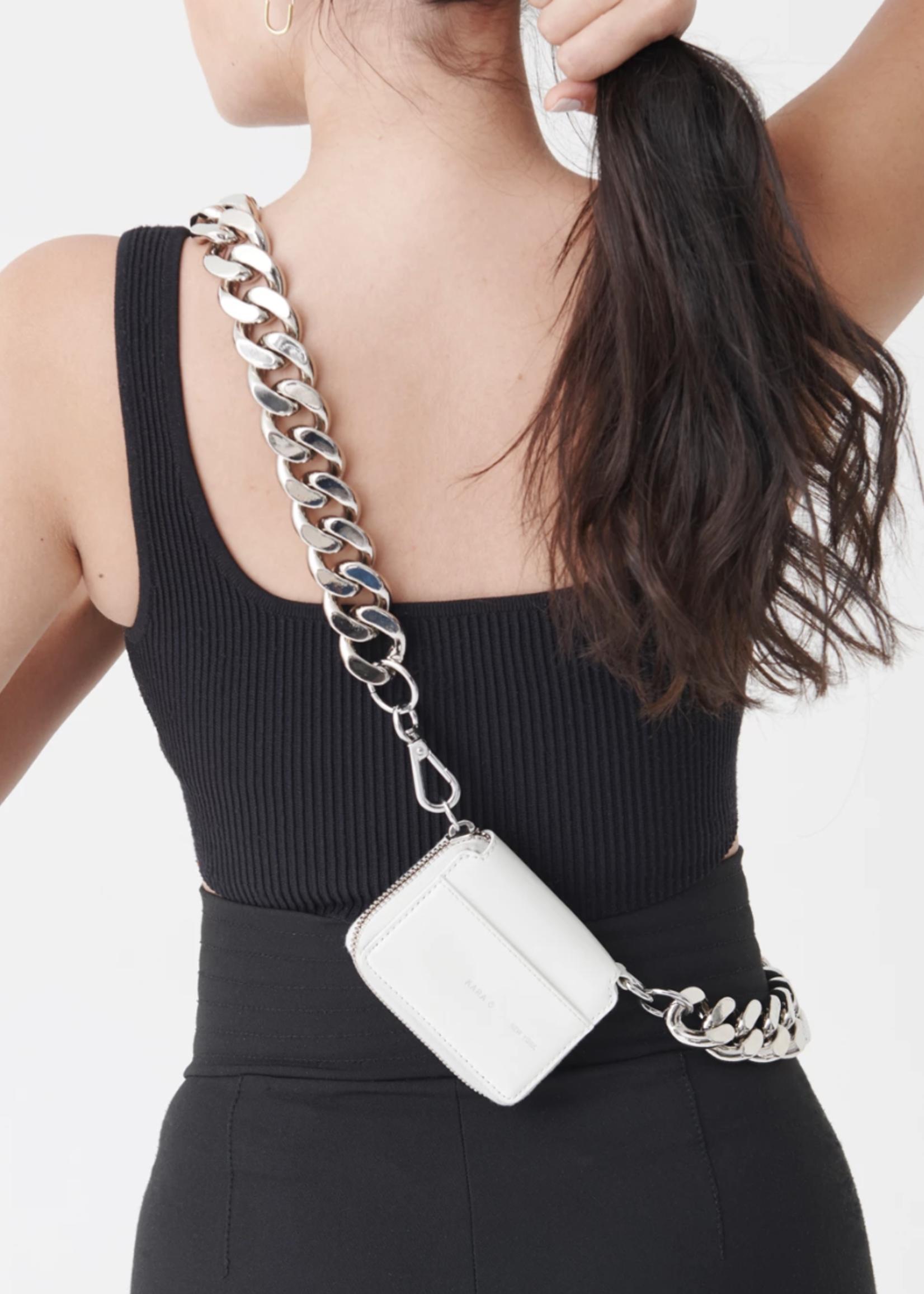KARA KARA Bike Wallet with chain in White