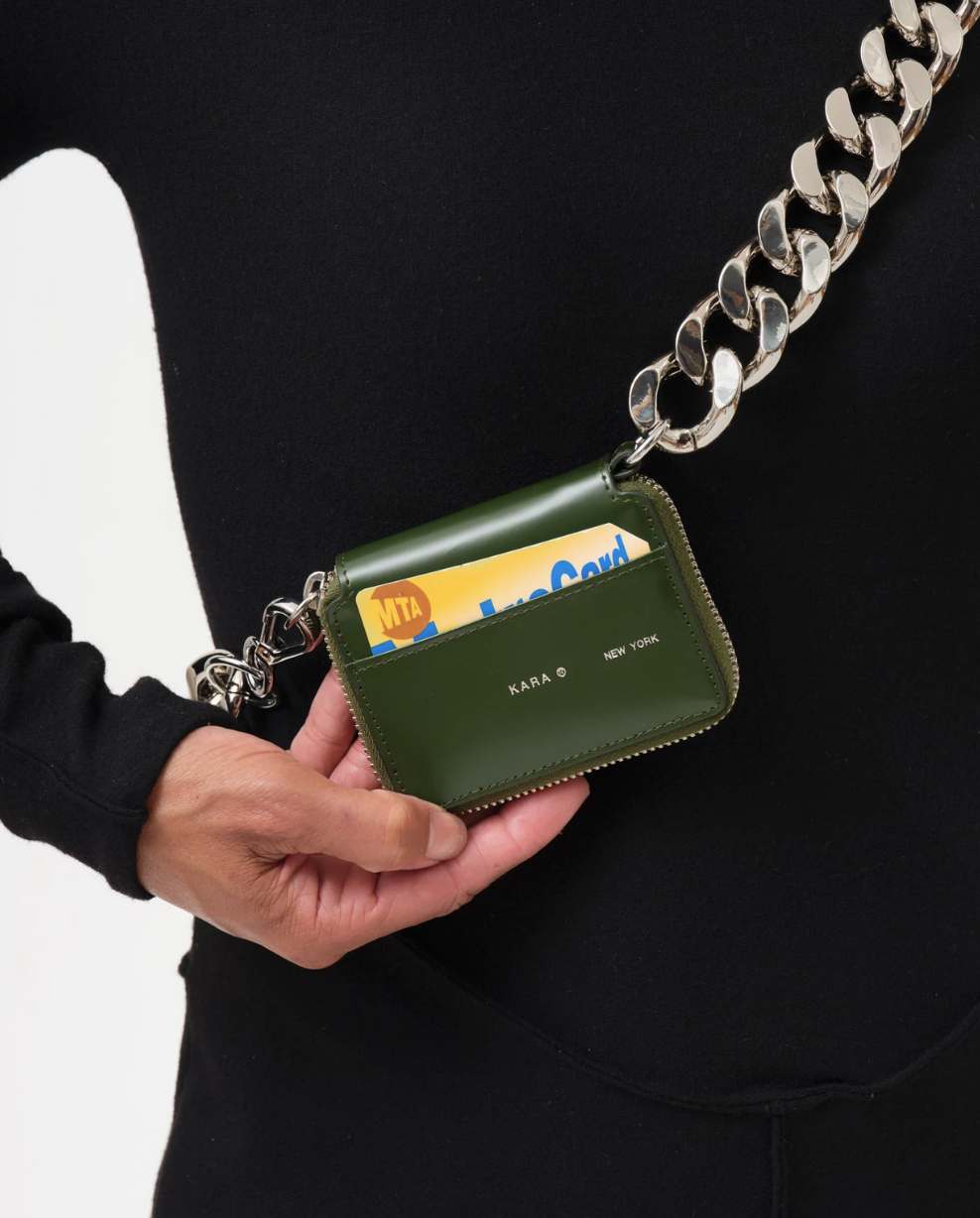 KARA KARA Bike Wallet with chain in Green