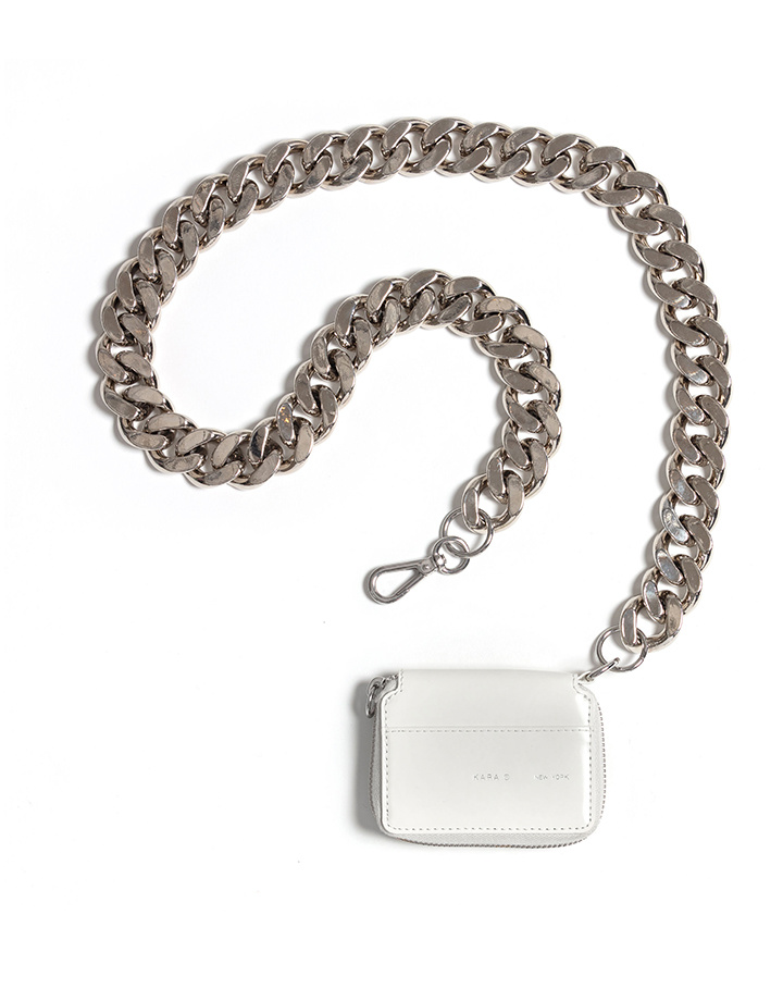 KARA KARA Bike Wallet with chain in White