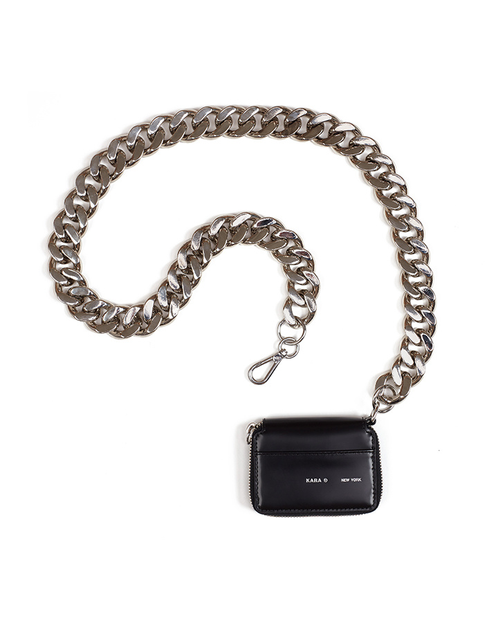KARA KARA Bike Wallet with chain in Black Void