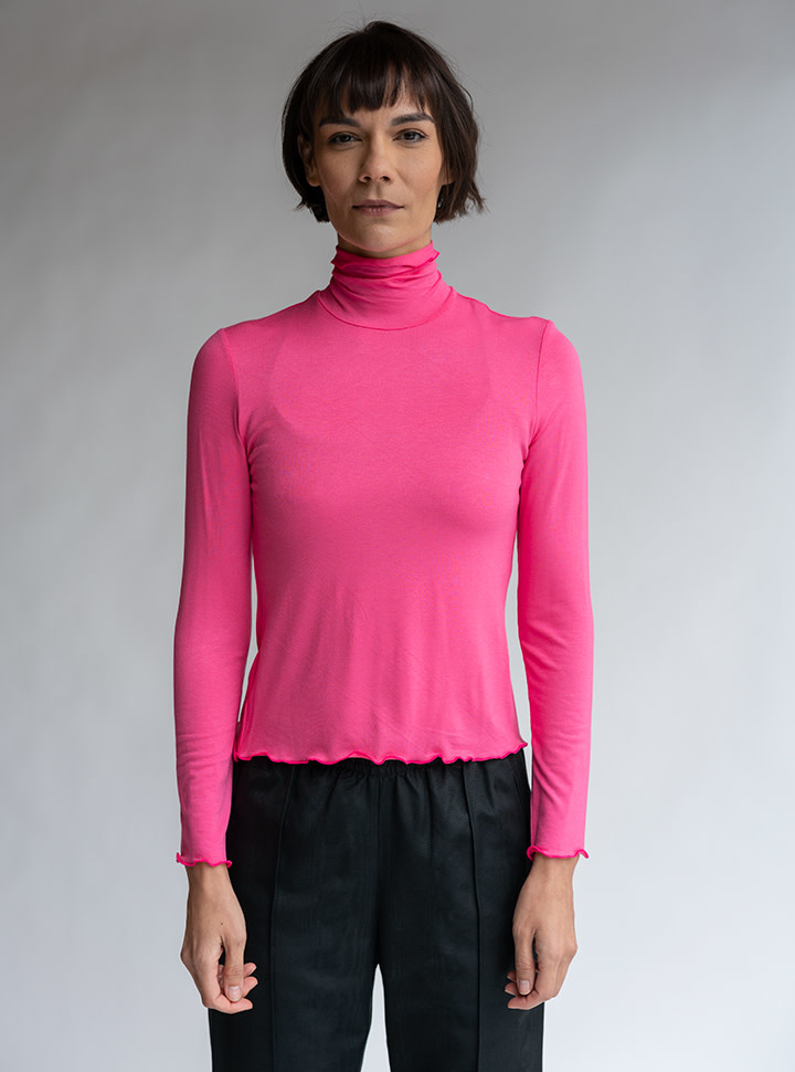 No.6 No.6 Rumi Turtleneck in Pink Knit Jersey