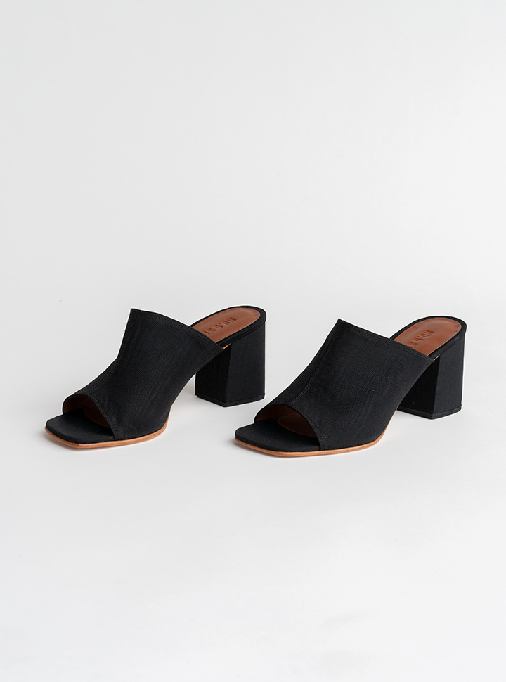 No.6 Dora Mule in Black Moire