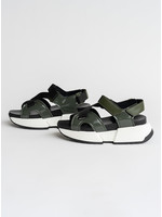 MM6 MAISON MARGIELA MM6 Maison Margiela Military Green Multi Strap Sandals
