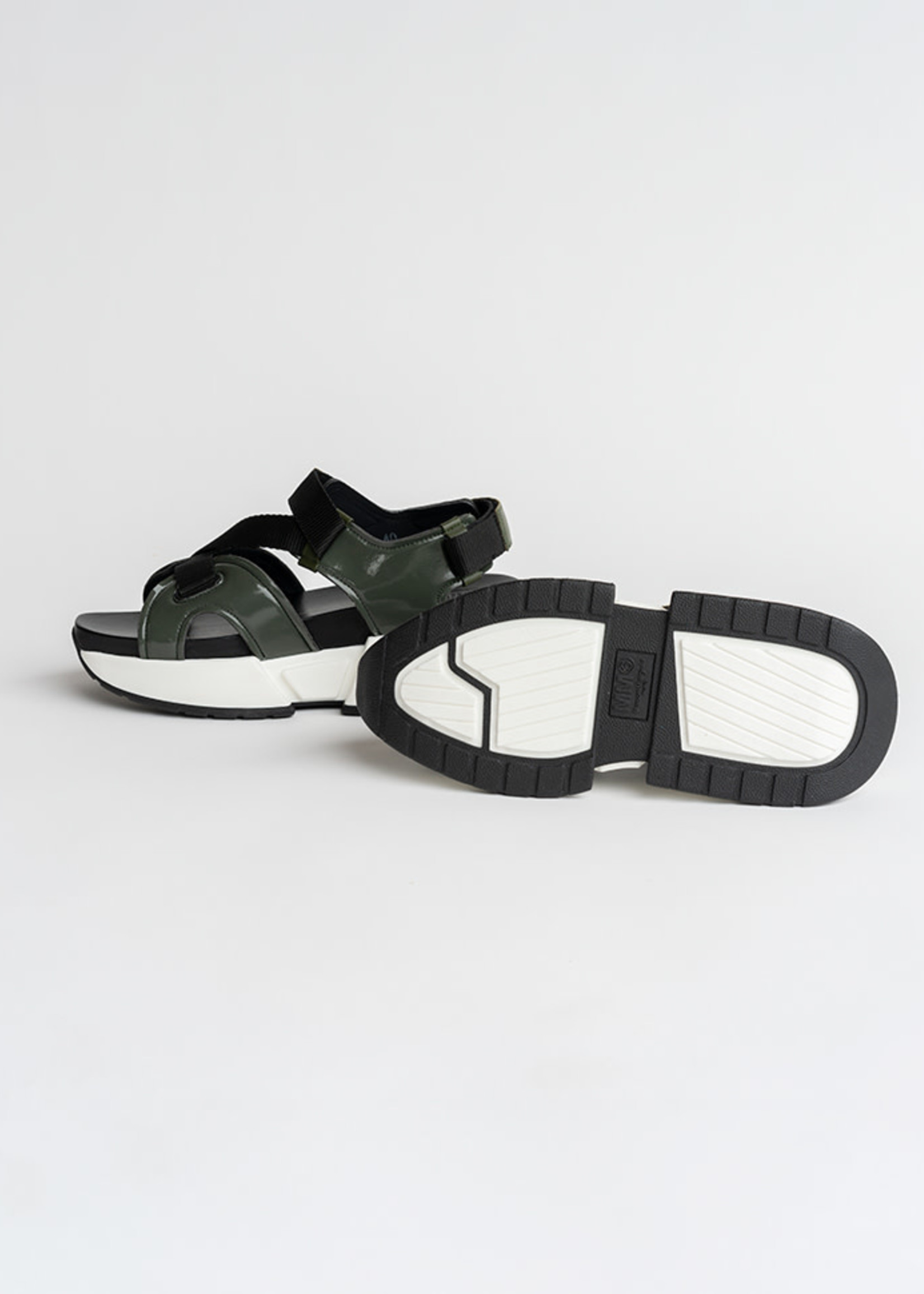 MM6 MAISON MARGIELA Military Green Multi Strap Sandals