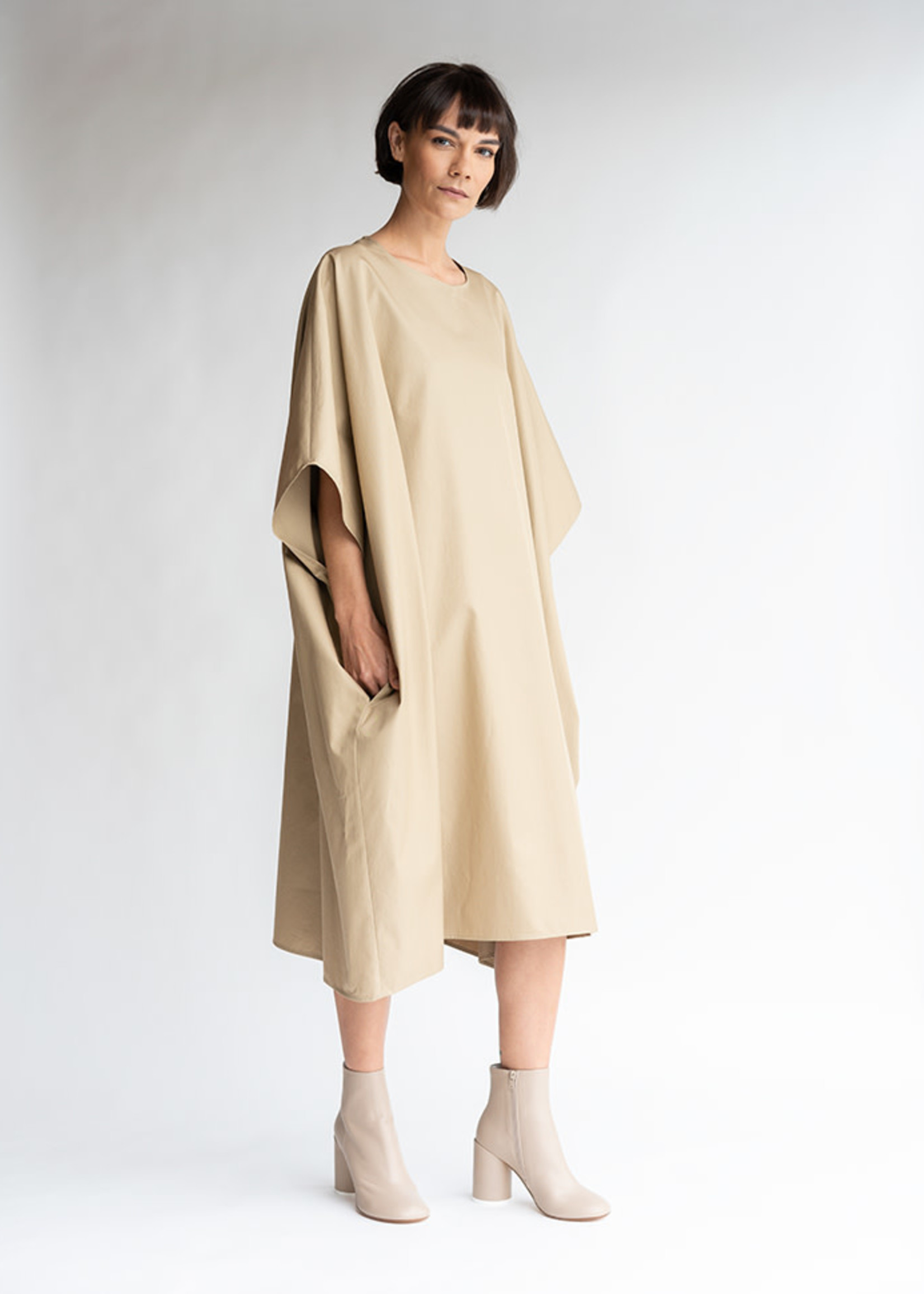 MM6 MAISON MARGIELA Oversized Dress in Camel