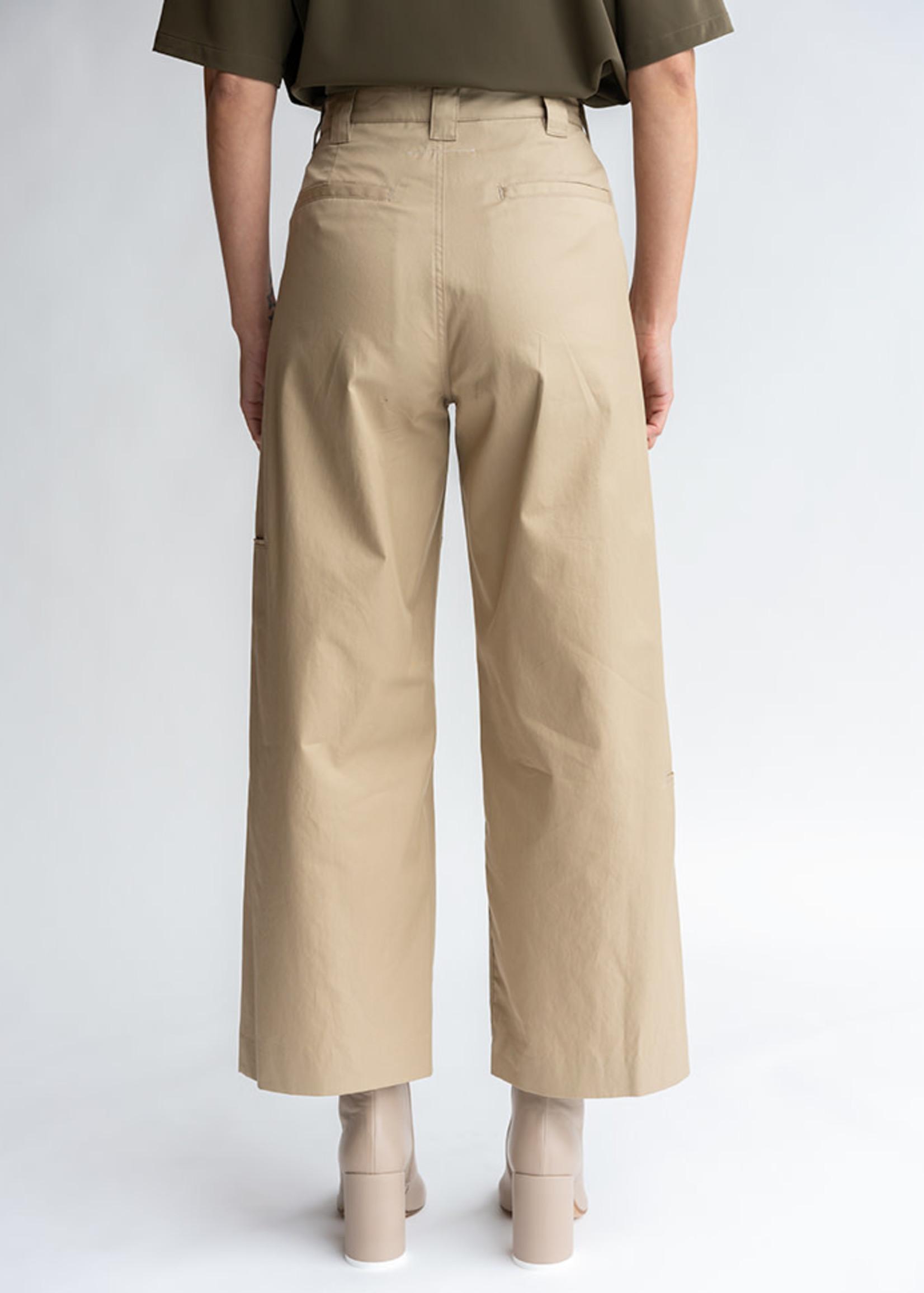 MM6 MAISON MARGIELA Double Knee Trouser in Camel Twill