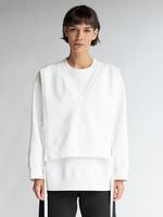 MM6 MAISON MARGIELA MM6 Maison Margiela V-Neck Bib Hidden Logo Sweatshirt