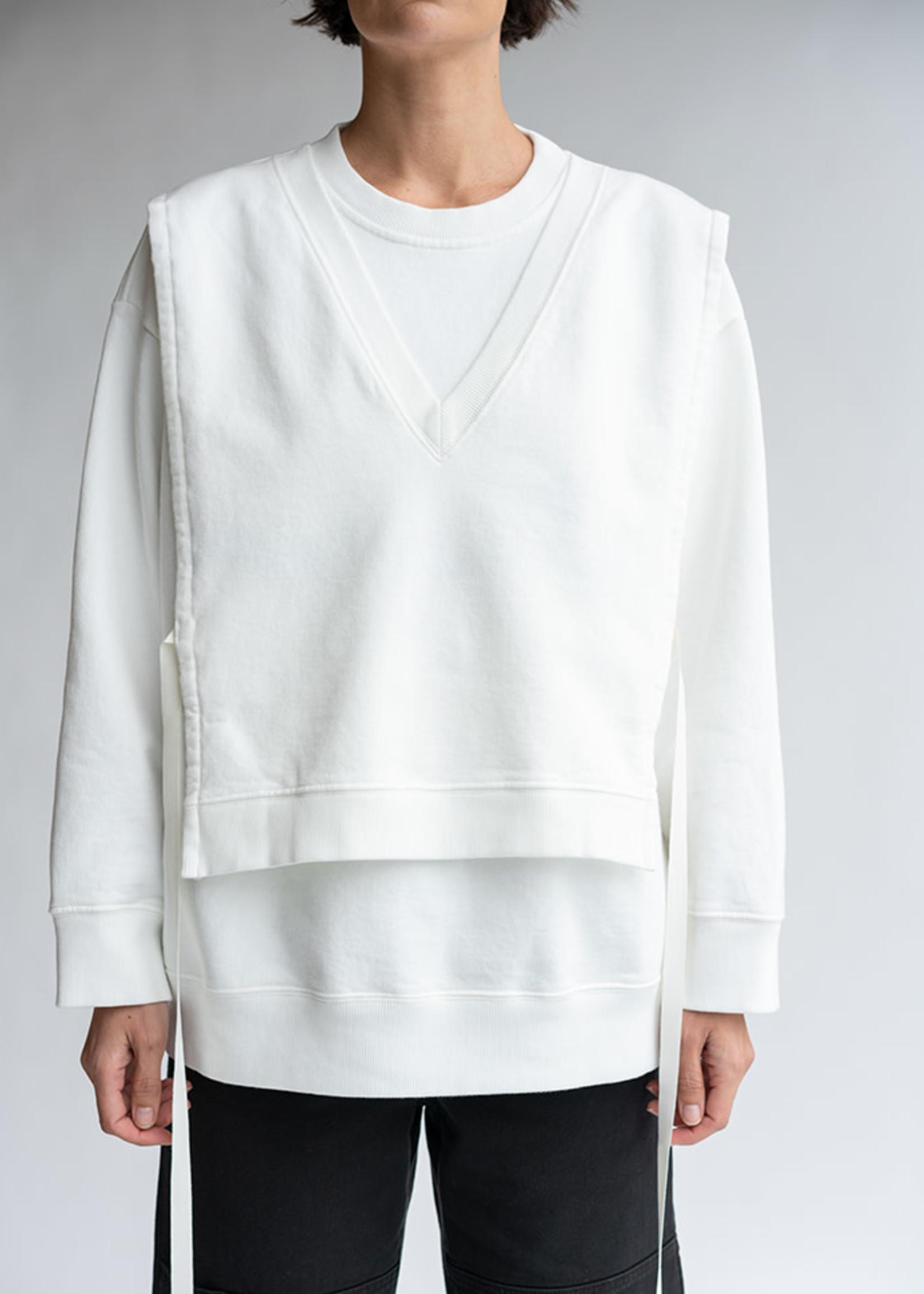 MM6 MAISON MARGIELA V-Neck Bib Logo Sweatshirt