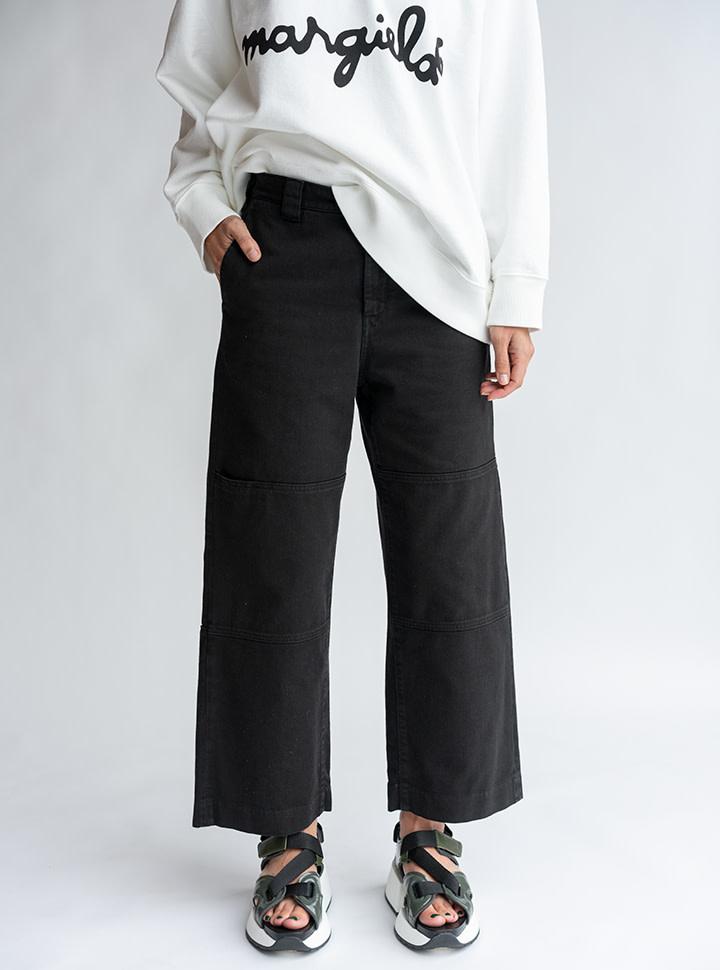 MM6 MAISON MARGIELA Double Knee Trouser in Black Denim