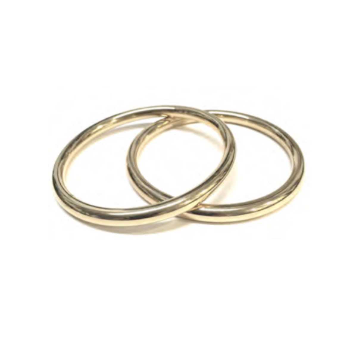 Lady Grey Core Bangle Set in 14K Gold Plated Bronze
