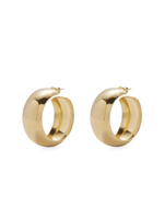 Lady Grey Dome Hoops in Gold