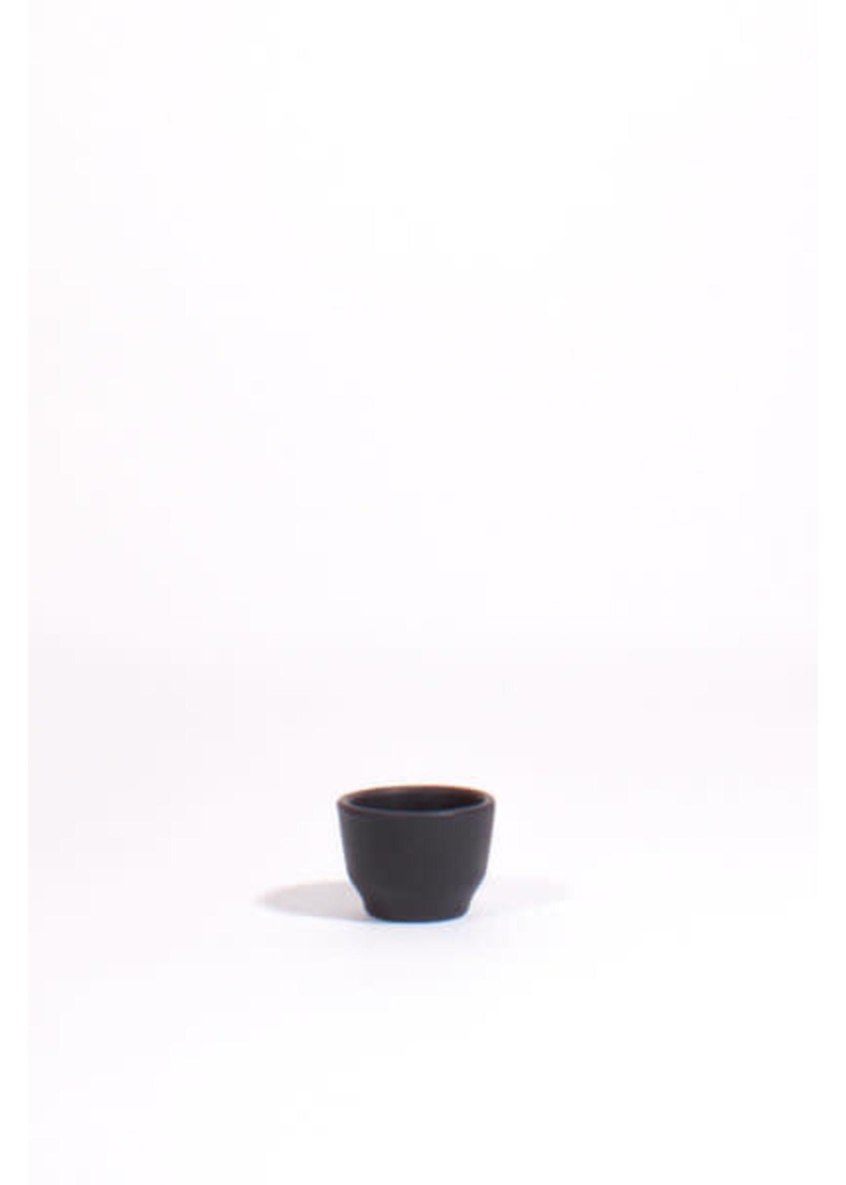 Lagos Del Mundo Matte Black Ceramic Shot Glasses: Set of 4