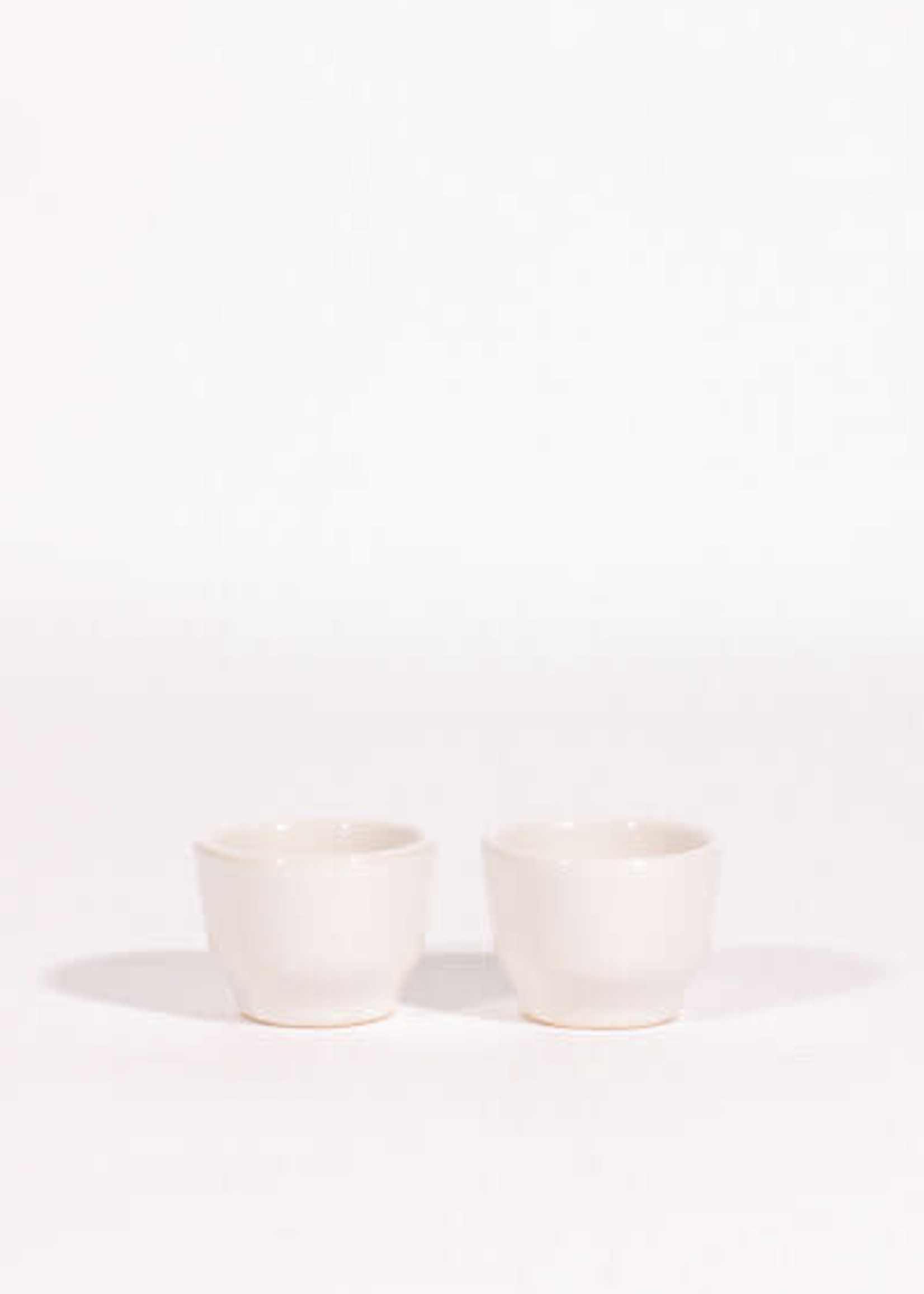 Lagos Del Mundo White Ceramic Shot Glasses