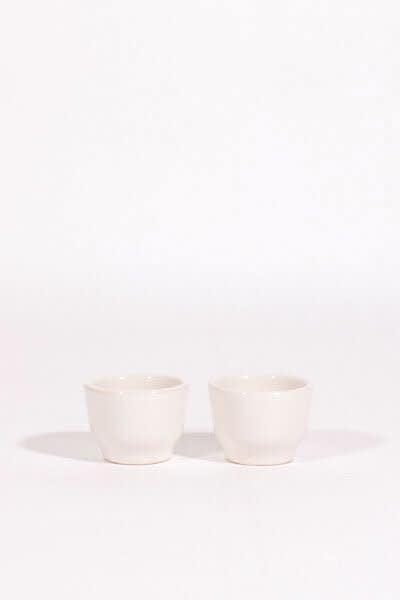Lagos Del Mundo White Ceramic Shot Glasses