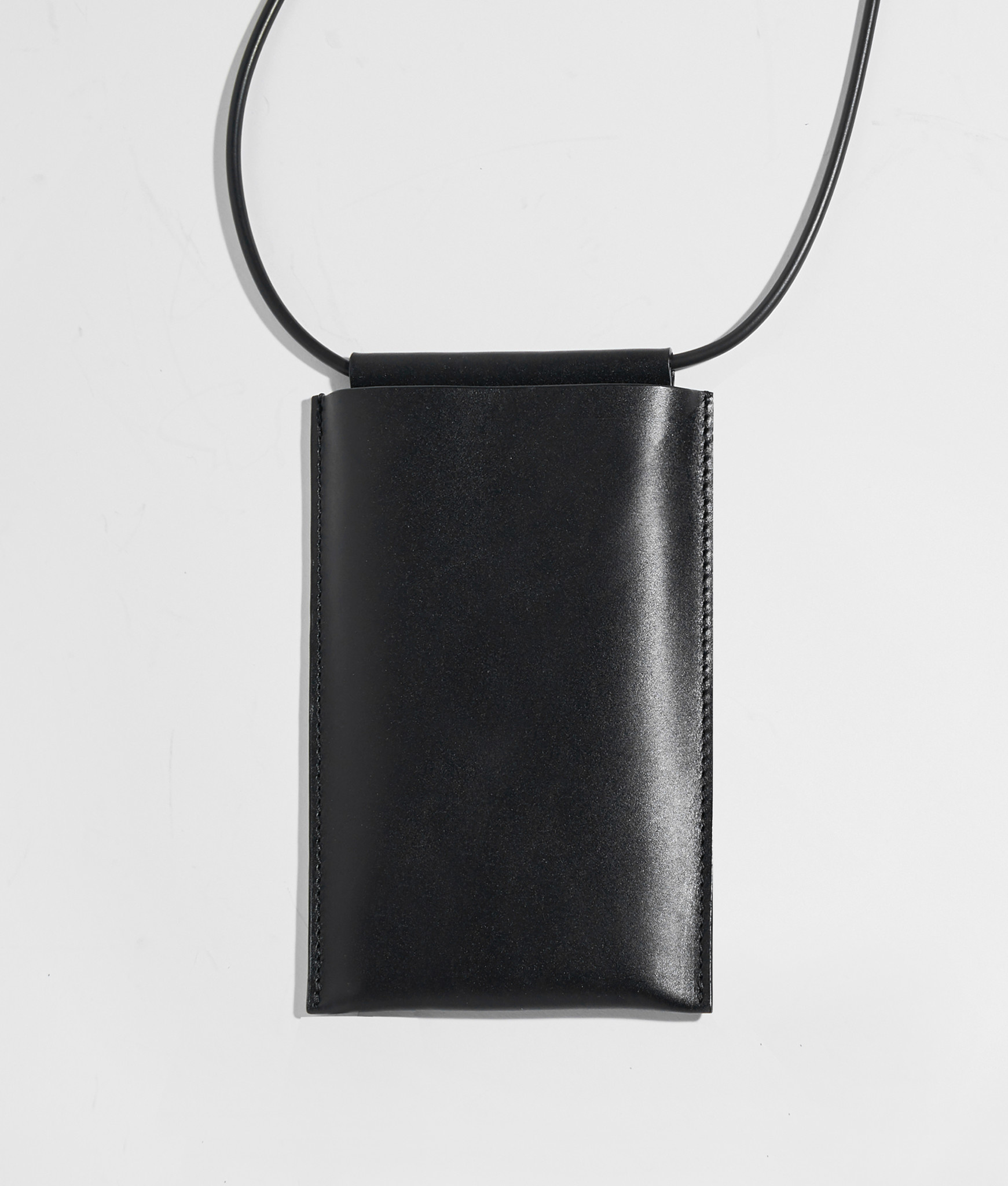 Building Block iPhone Sling in Black Leather