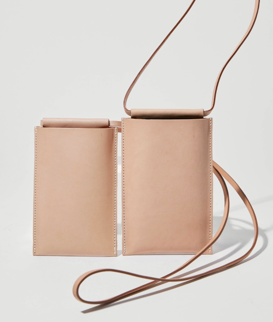Building Block  iPhone sling in Tan Leather