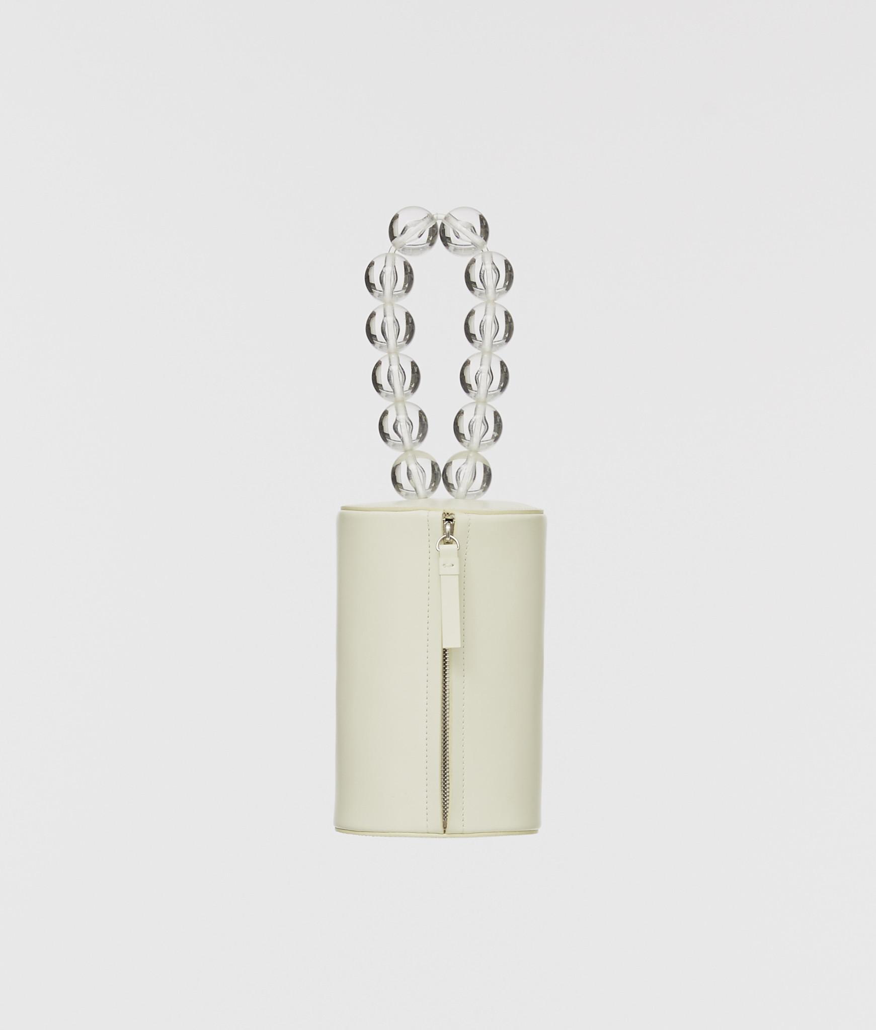 Building Block Cylinder Wristlet in Off White