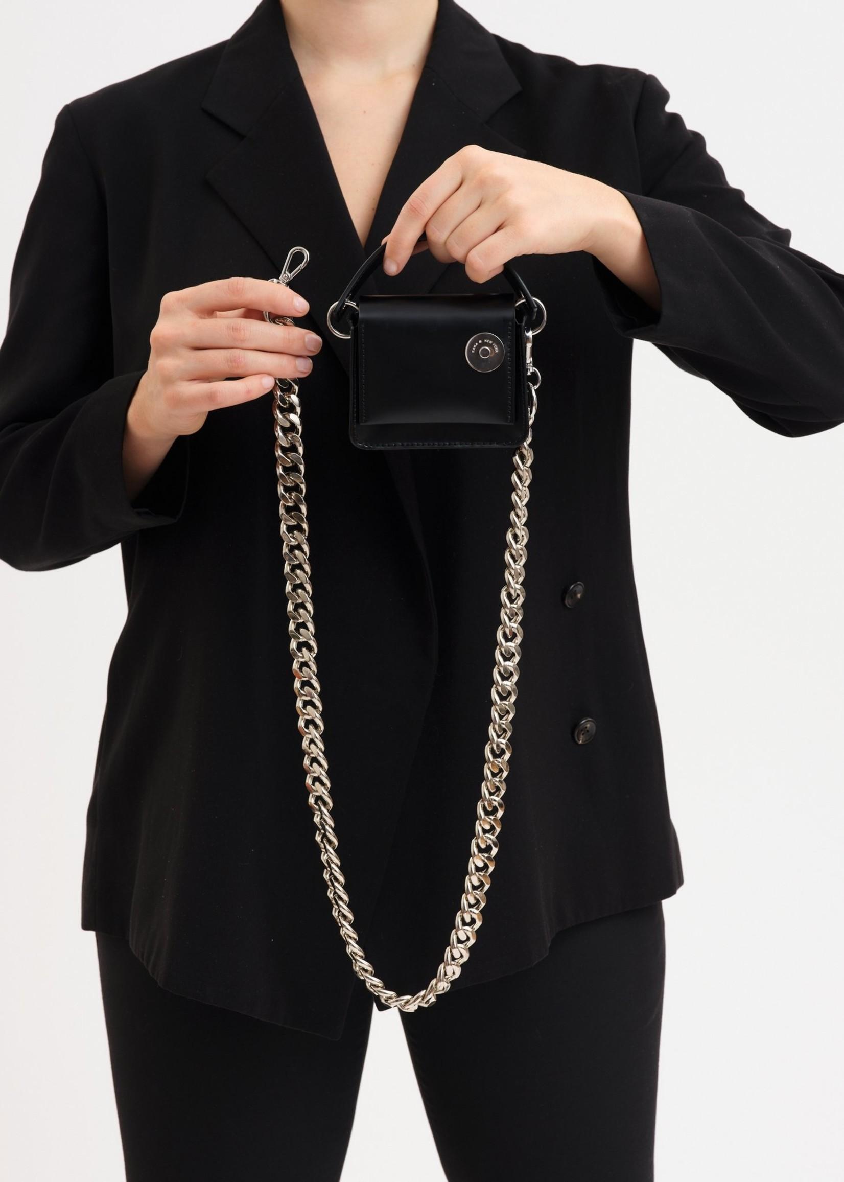 KARA Micro Pinch Chain Bag in Slime