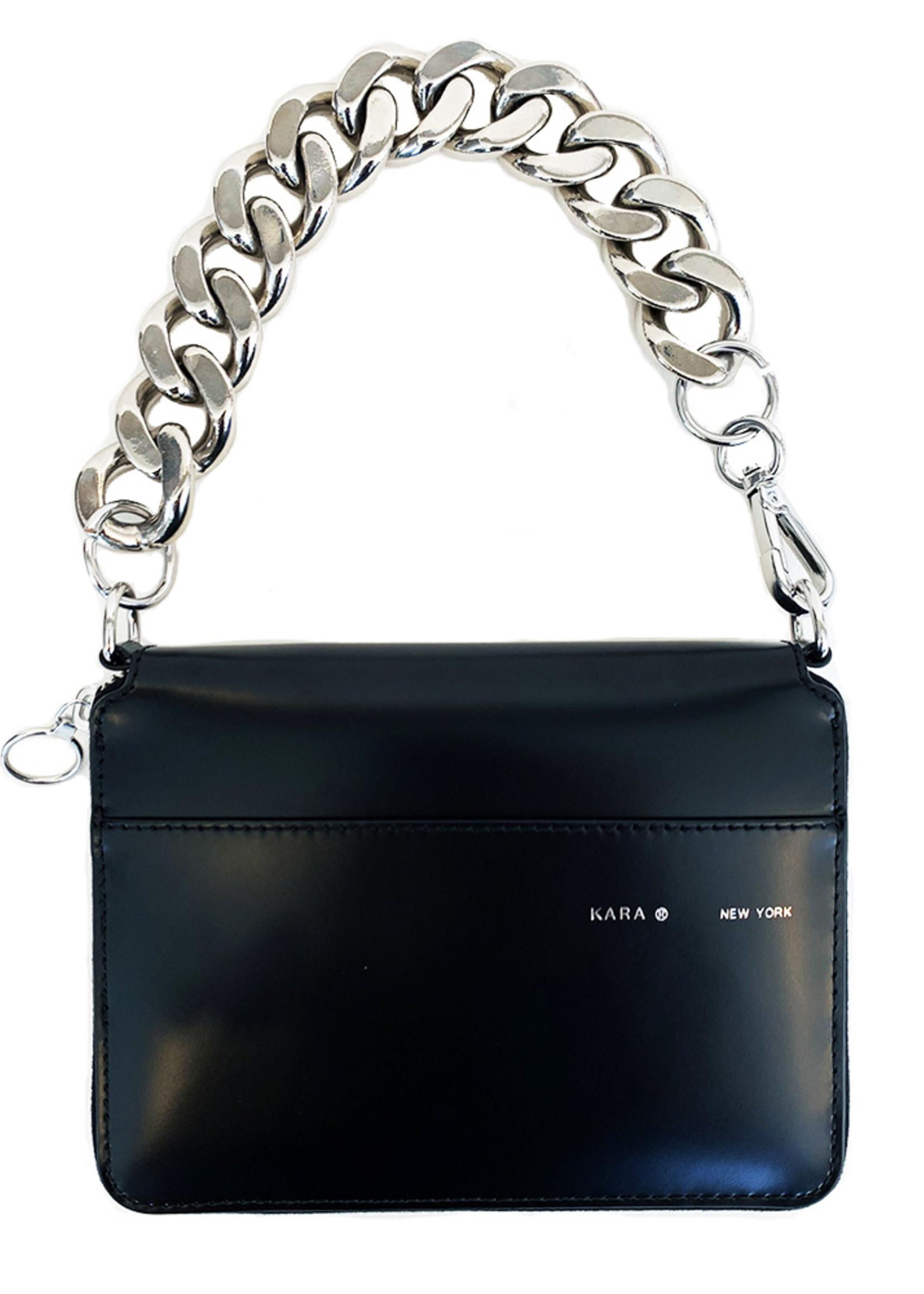 KARA Large Bike Chain Wristlet in Black