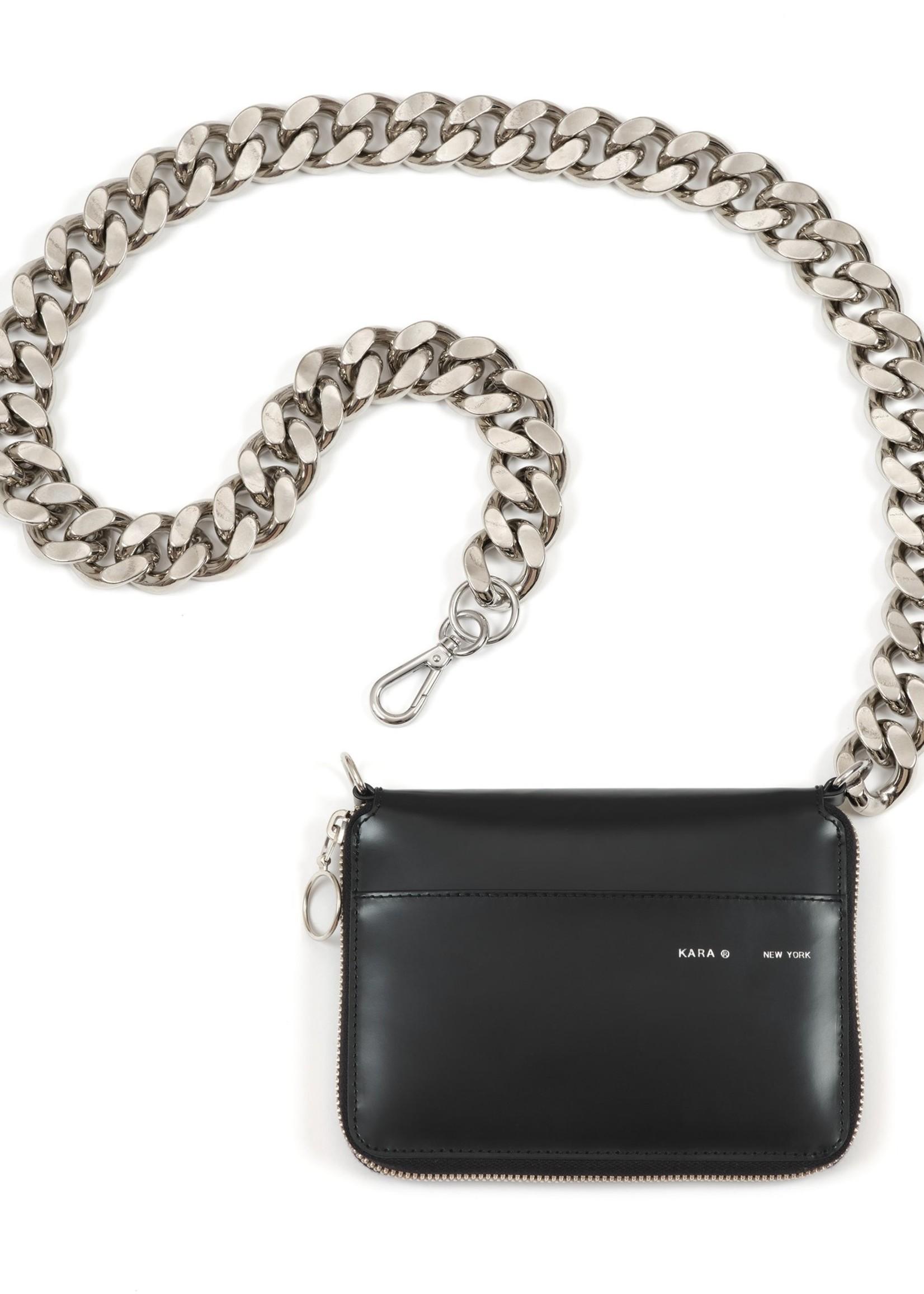 KARA Large Bike Chain Wallet in Black