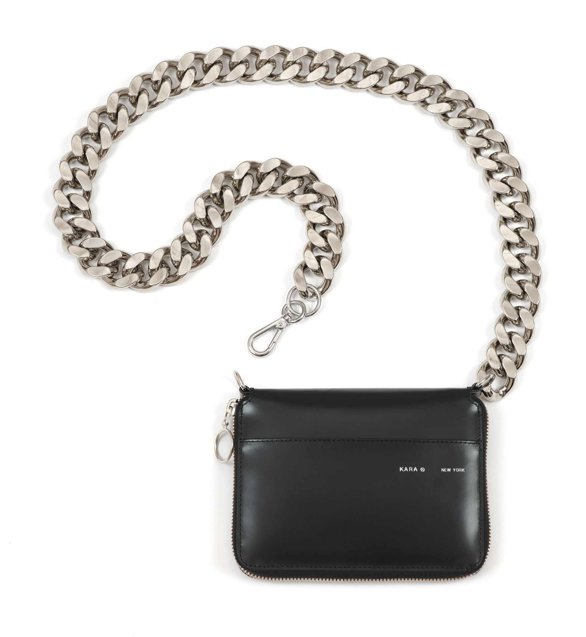 KARA Large Bike Chain Wallet in Black