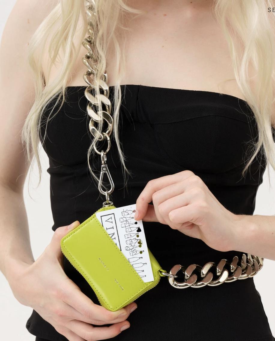 KARA Bike Chain Wallet in Slime