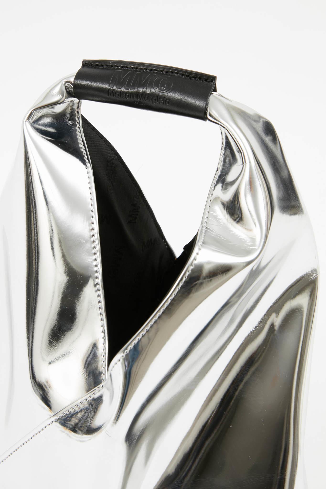 MM6 MAISON MARGIELA Small Metallic Silver Tote