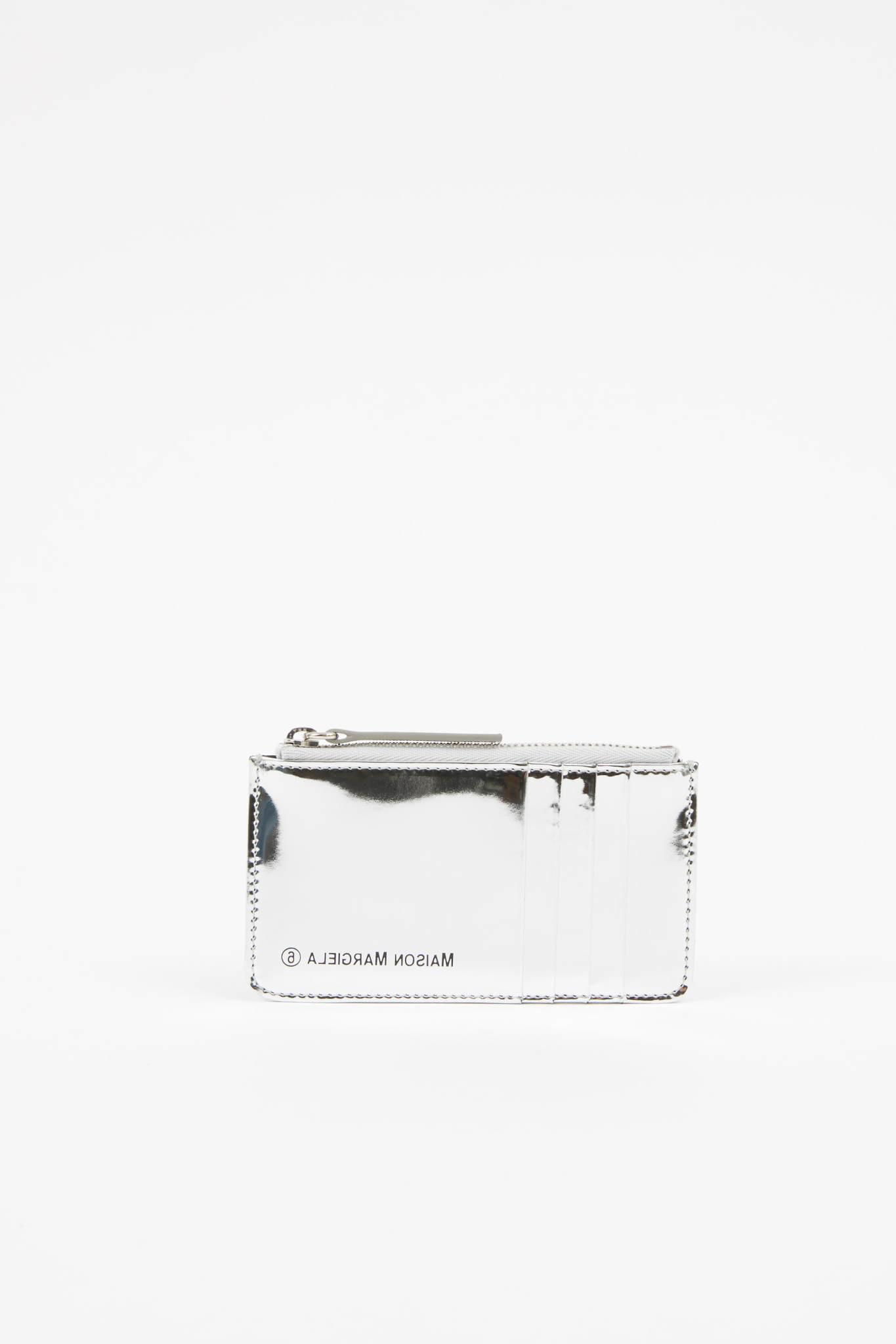 MM6 MAISON MARGIELA Metallic Silver Cardholder
