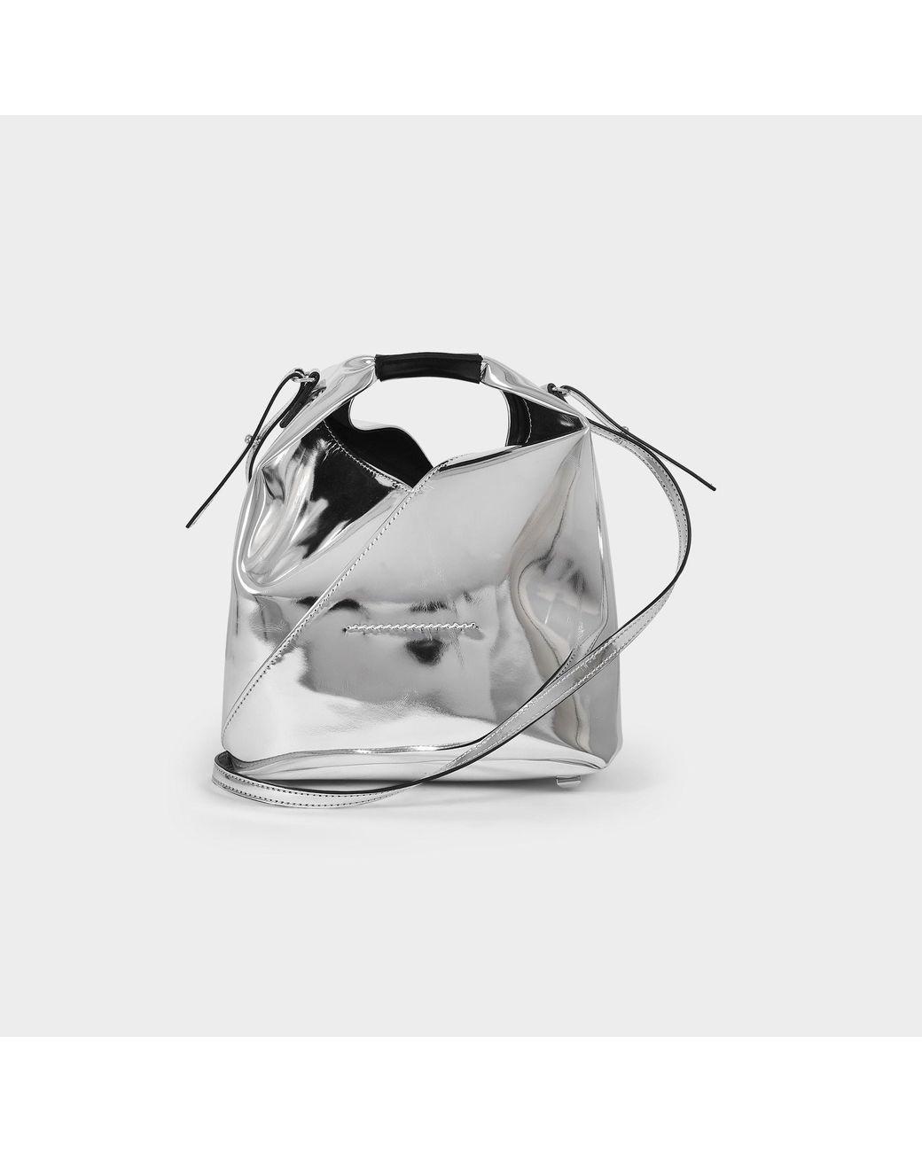 MM6 MAISON MARGIELA Metallic Silver Mini Nano Bag