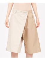 MM6 MAISON MARGIELA MM6 Maison Margiela Fold Over two-tone shorts in beige