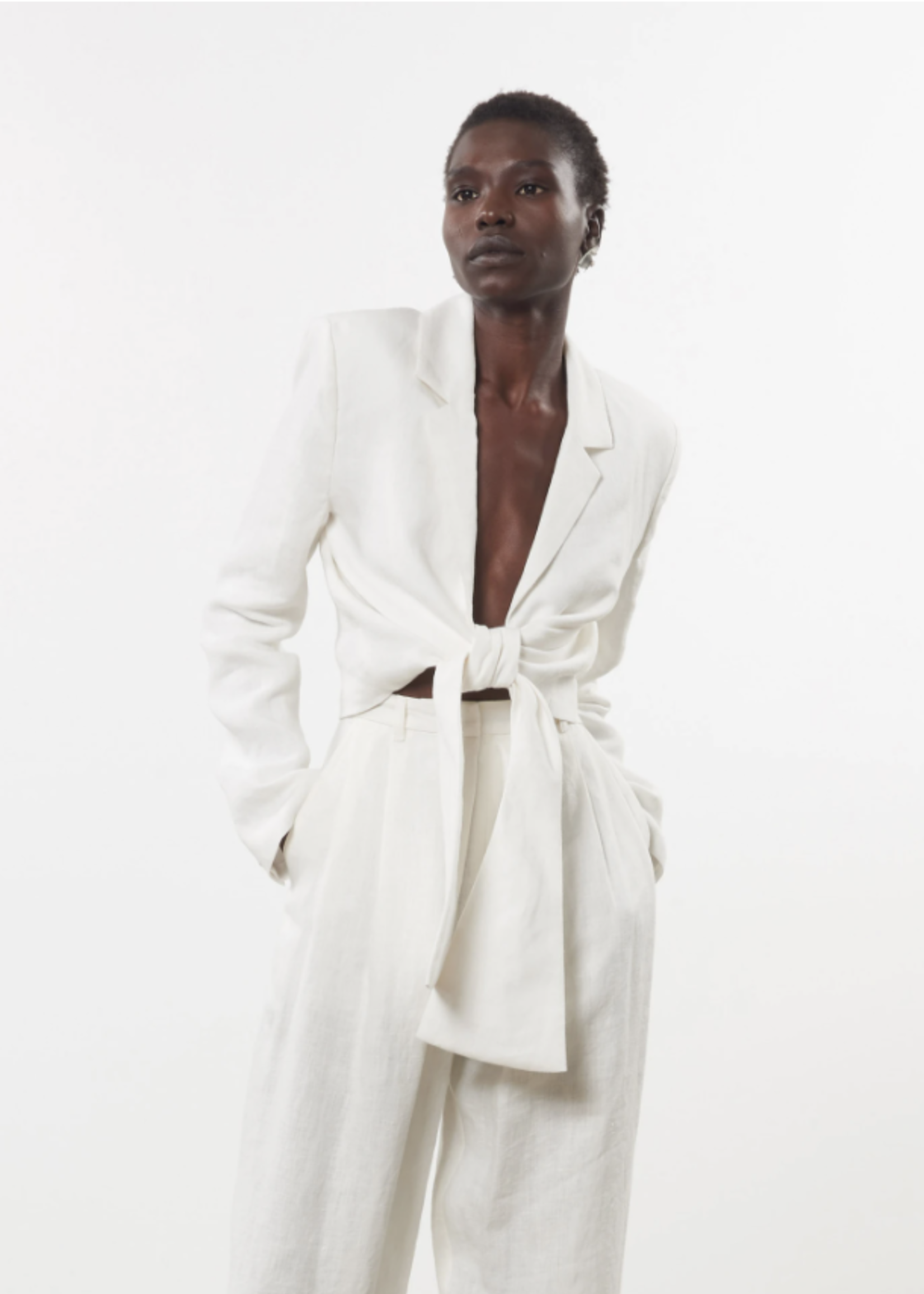 Mara Hoffman Catalina Jacket in White