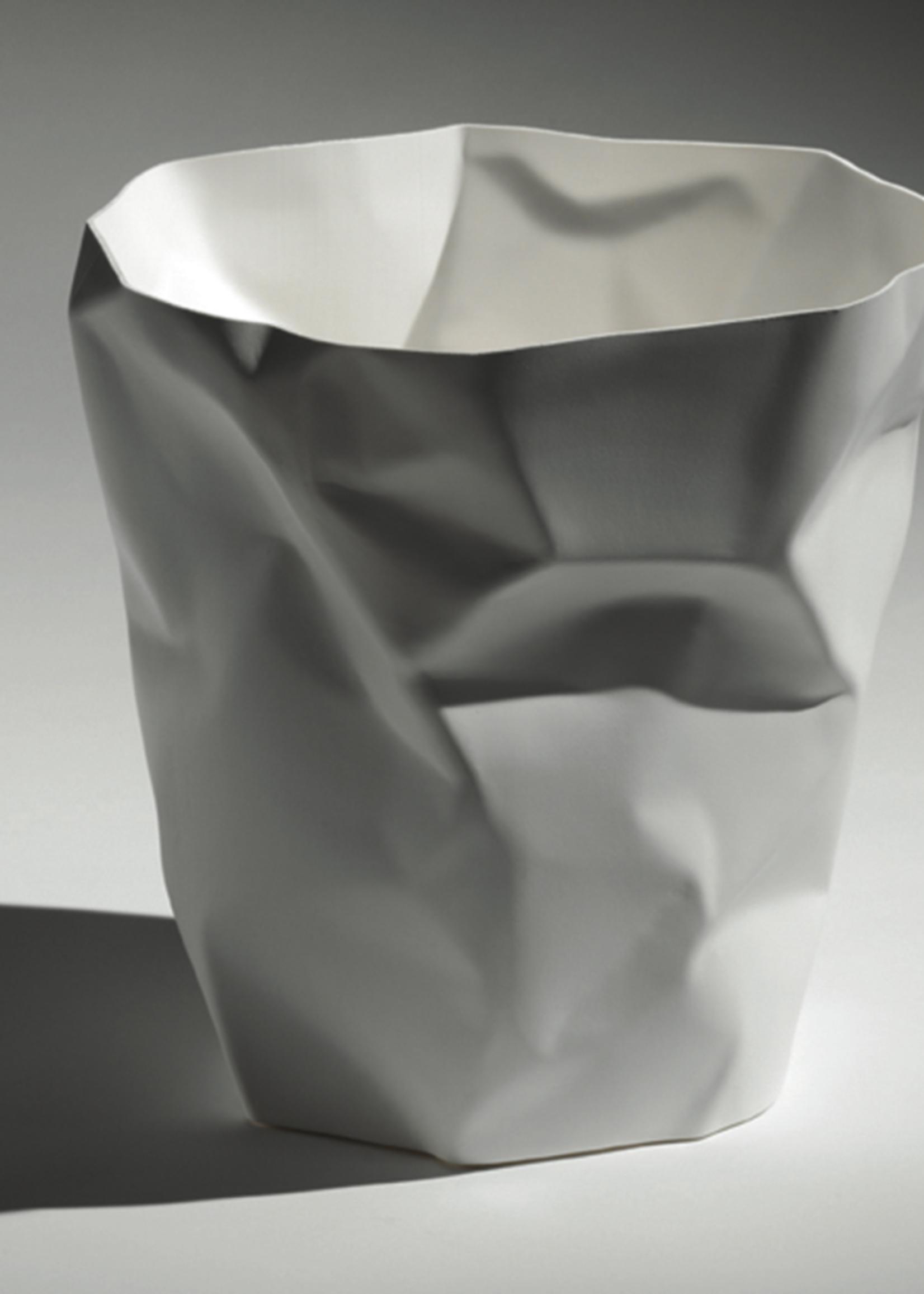 Essey Crumpled Waste Basket White