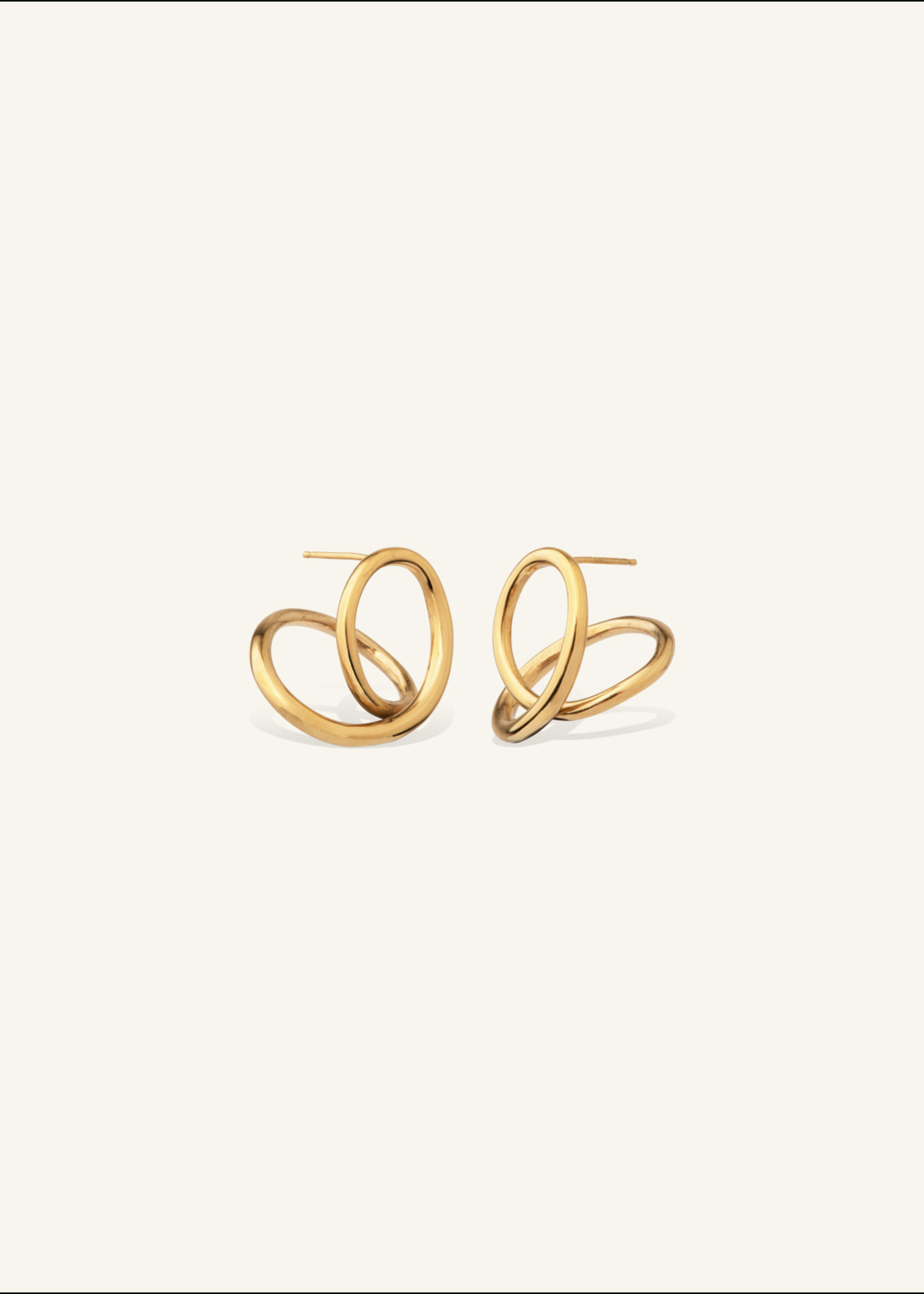 Completed Works The  Curve of Time Gold Vermeil Earrings
