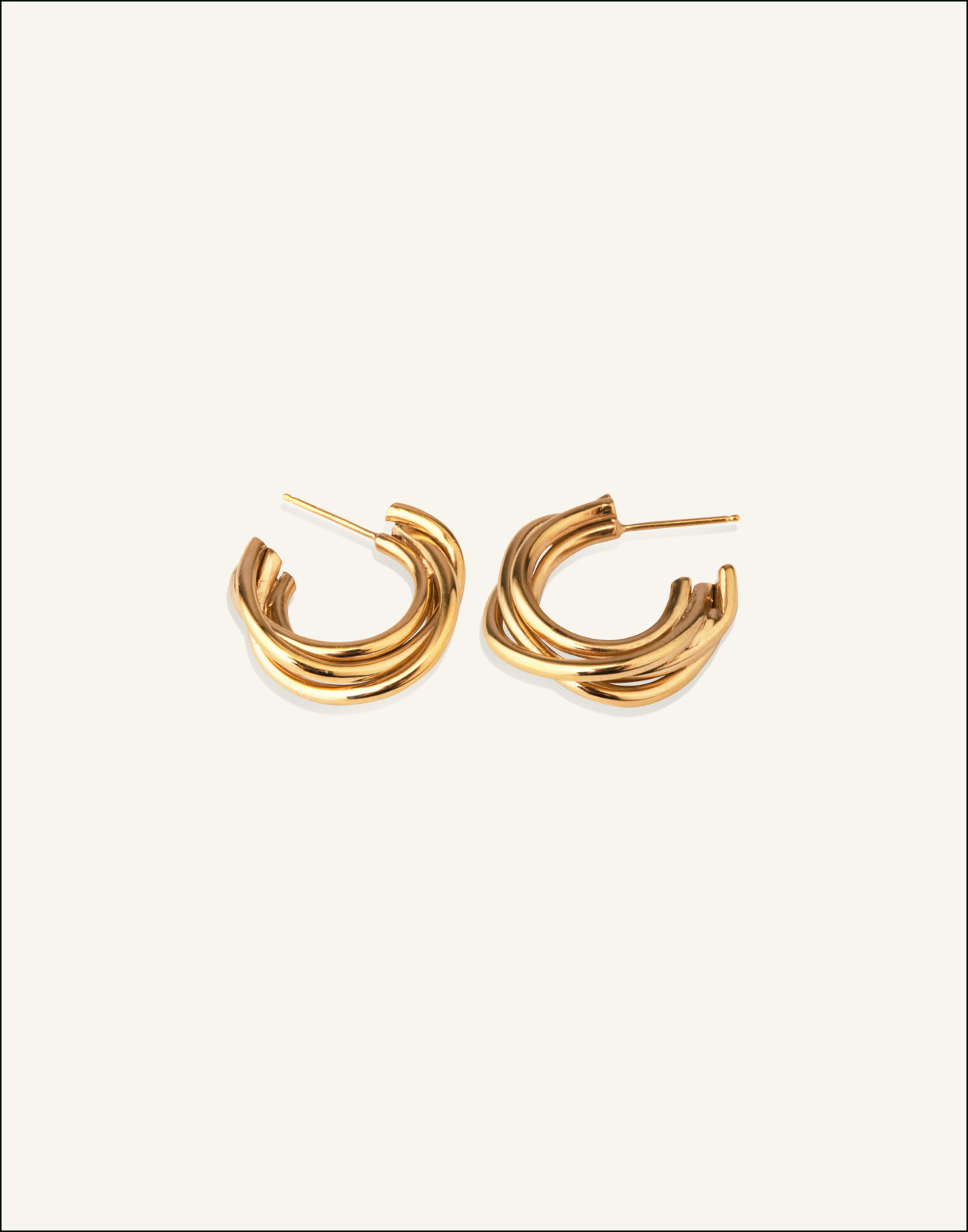 Completed Works Encounter Gold Vermeil Hoop Earrings