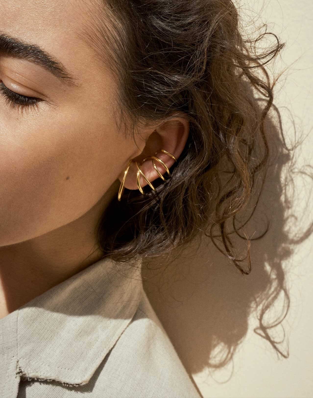 Completed Works Bend in the River Gold Vermeil Ear Cuff