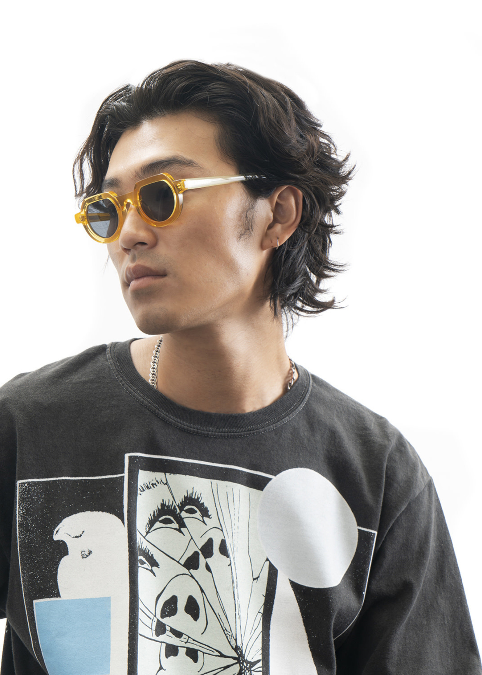 Brain Dead Tani Sunglasses in Multi-Amber
