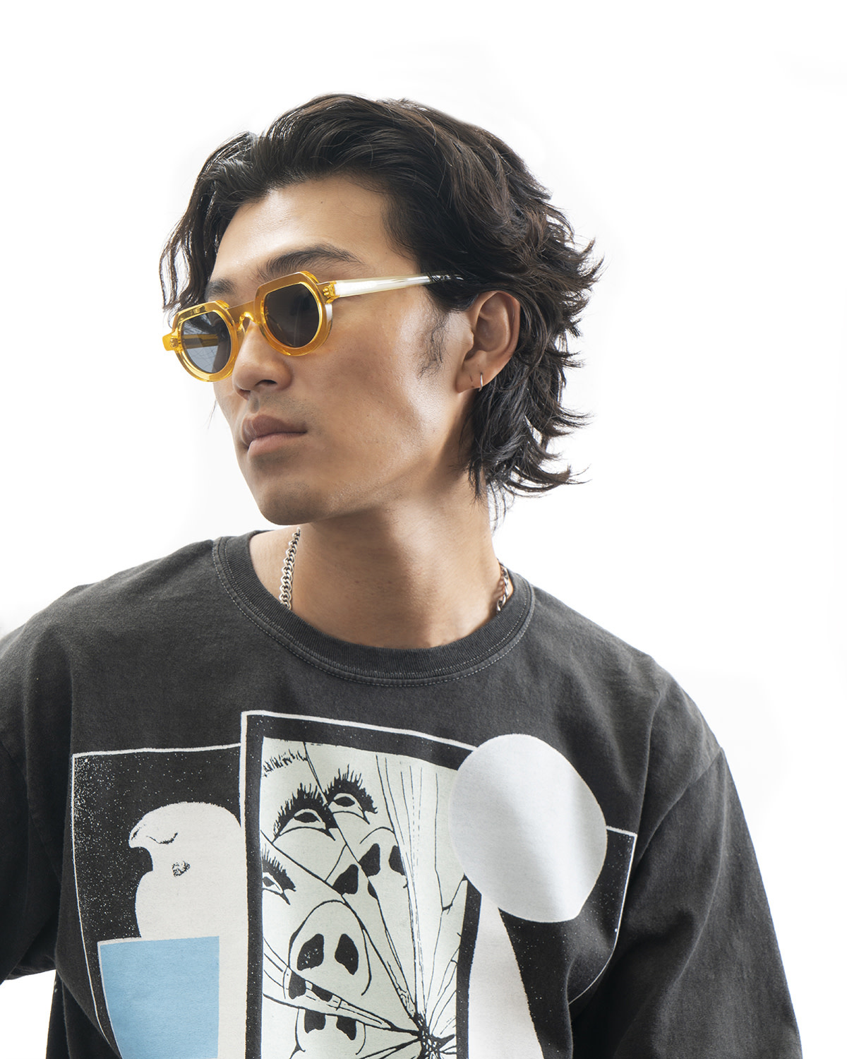 Brain Dead Tani Sunglasses in Multi-Amber