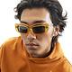 Brain Dead Kurata Sunglasses in Multi-Amber